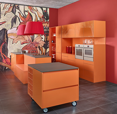 Orange Mobel Kitchen