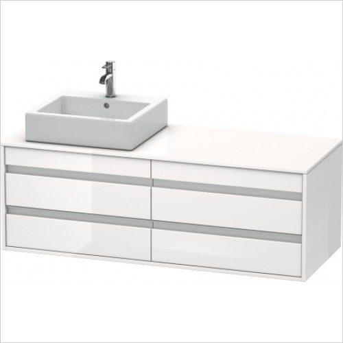 Duravit Furniture - Ketho Vanity Unit 550x1400mm - White High Gloss
