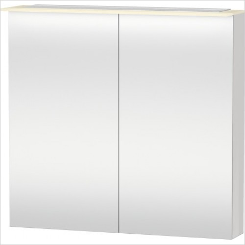 Duravit Furniture - X-Large Mirror Cabinet 760x800x138 - White High Gloss