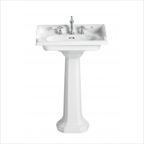 Heritage Basins - Dorchester Square Basin 2 Tap Hole