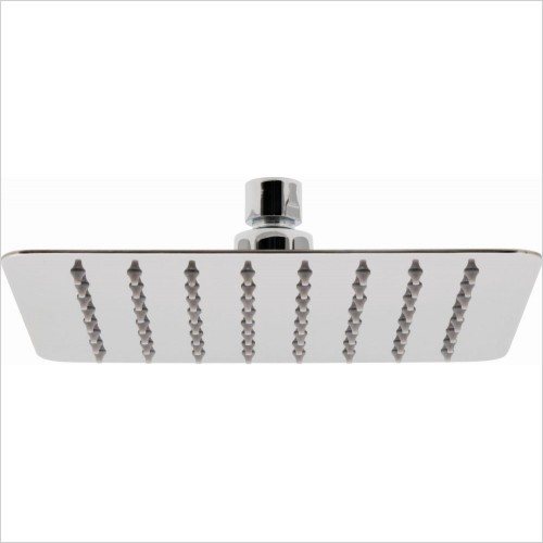 VADO Showers - Aquablade Slimline Square Shower Head, 200mm (8'')