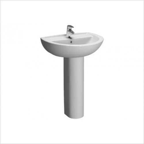 Vitra Basins - Layton Cloakroom Basin 45cm 2TH