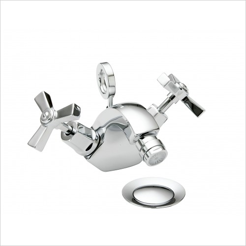 Heritage Taps - Gracechurch Deco Mono Bidet Mixer