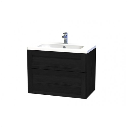 Miller Furniture - London Vanity Unit 80cm With 2 Drawers