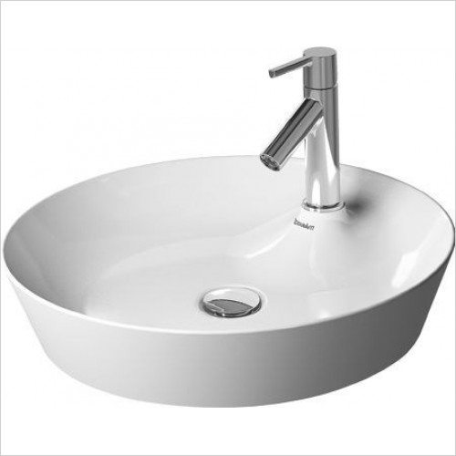 Duravit - Basins - Cape Cod Washbowl Round 480mm With Tap Dome 1TH