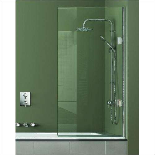 Matki Shower Enclosures - Single Bath Screen 800mm LH GG