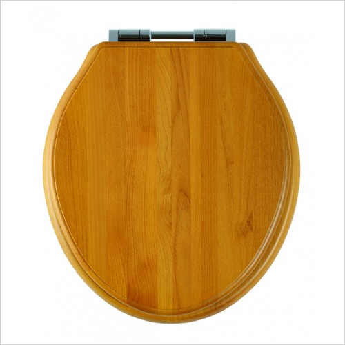 Roper Rhodes Toilet Seats - Greenwich Toilet Seat Soft Close Hinge - Antique Pine