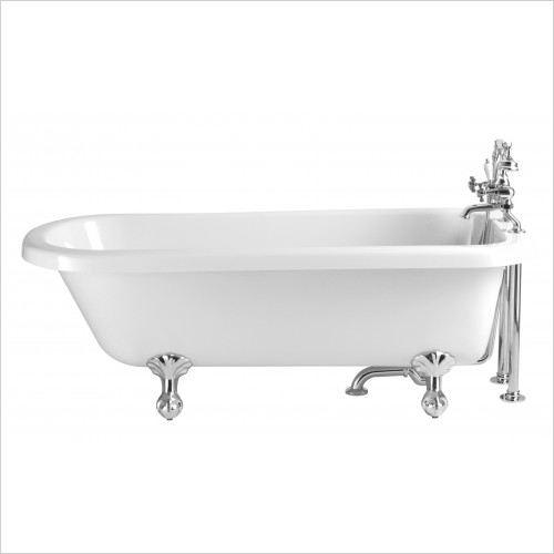 Heritage Bathtubs - Perth 1650 x 720mm Acrylic Roll Top Bath 2TH