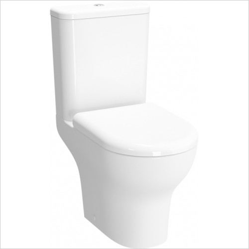 Vitra Toilets - Zentrum Close Coupled Open Back WC Pan - Rimless