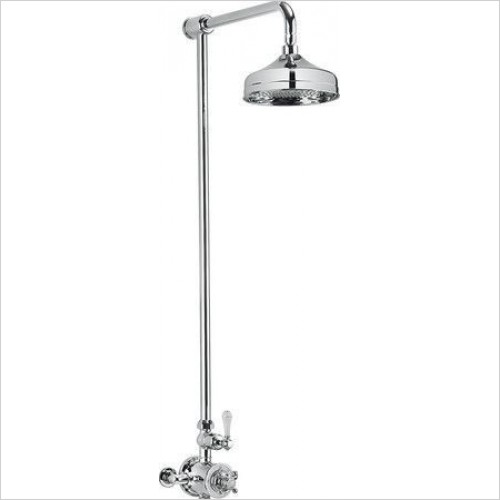 Crosswater Showers - Belgravia Exposed Thermostatic Shower Valve, 8'' Fixed Head