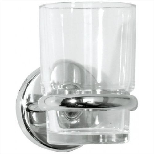 Roper Rhodes Accessories - Wessex Clear Glass Tumbler & Holder