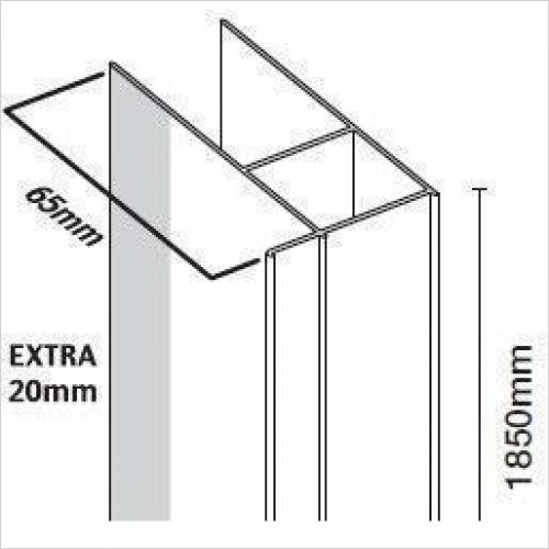 Merlyn Optional Extras - 6 Series Extension Profile 20mm