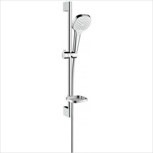 Hansgrohe Showers - Shower Head Rail Set With Soap Dish Croma Select E Vario
