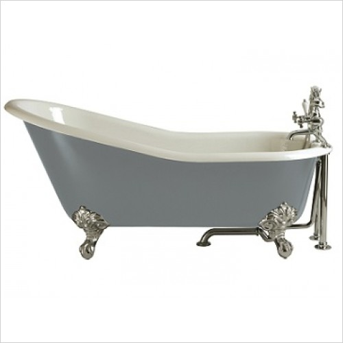 Heritage Bathtubs - Hampshire 1700 x 780mm Slipper Cast Iron Bath NTH