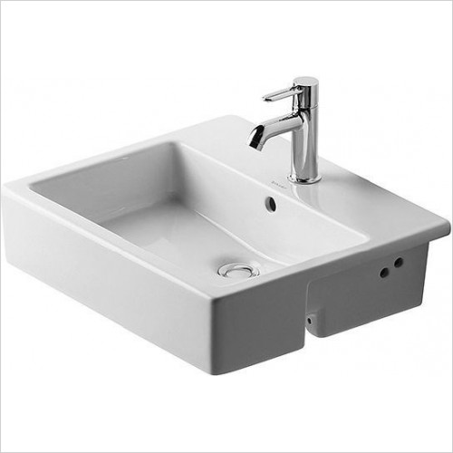 Duravit - Basins - Vero Semi-Recessed Washbasin 550mm 1TH