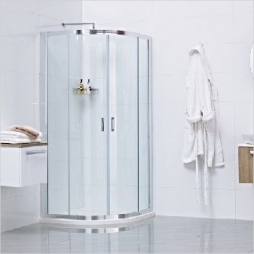 Roman Shower Enclosures - Lumin8 2 Door Offset Quadrant 800 x 900mm