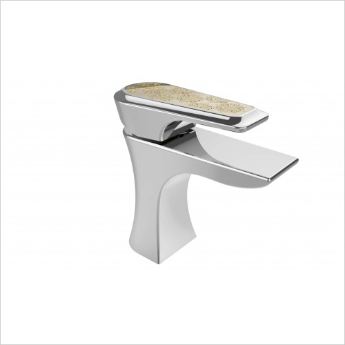 Heritage Taps - Lymington One Taphole Basin Mixer With Gold Inlay
