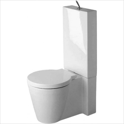 Duravit - Toilets - Starck 1 Toilet Close Coupled Vario Outlet Washdown