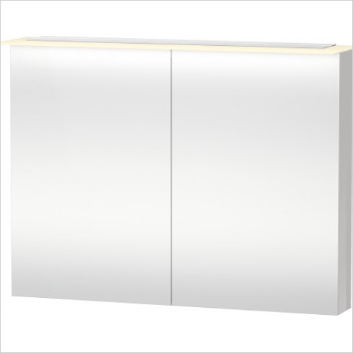 Duravit Furniture - X-Large Mirror Cabinet 760x1000x138 - White High Gloss