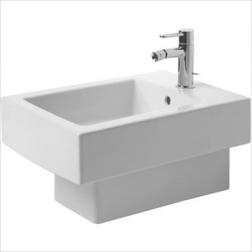 Duravit Bidets - Vero Bidet Wall Mounted 540mm With Overflow 1TH