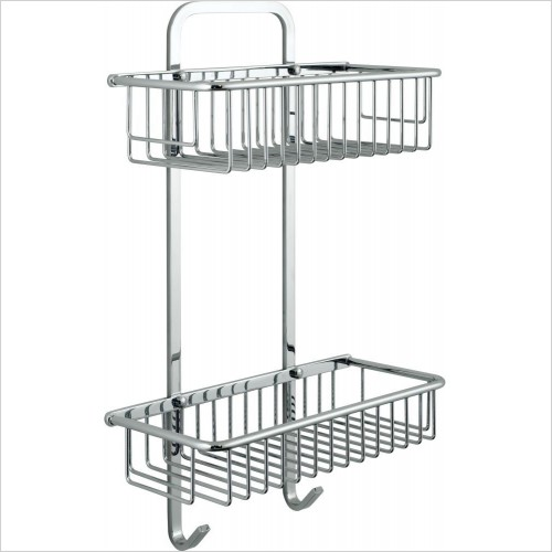 VADO Accessories - Basket Large Rectangular Double Wall Mounted