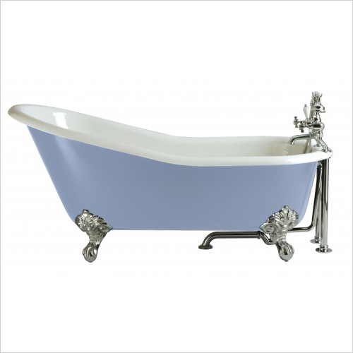 Heritage Bathtubs - Hampshire 1700 x 780mm Slipper Cast Iron Bath 2 Tap Hole