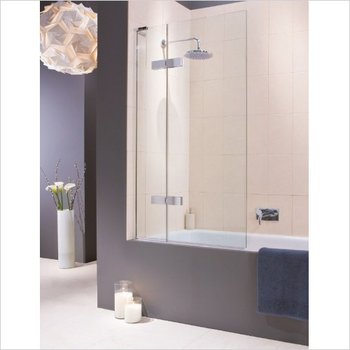 Matki Shower Enclosures - Two Panel Bath Screen 900mm
