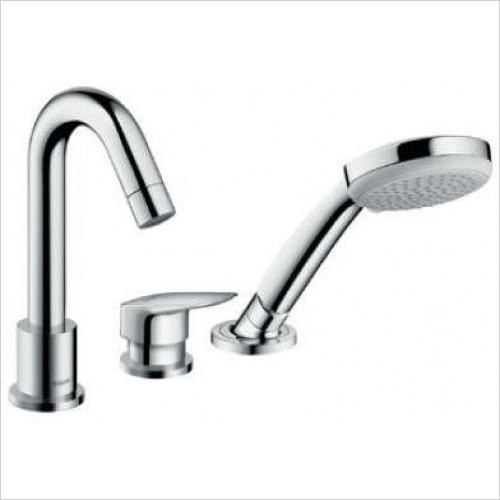 Hansgrohe Showers - Logis 3-Hole Rim Mounted Single Lever Bath Mixer