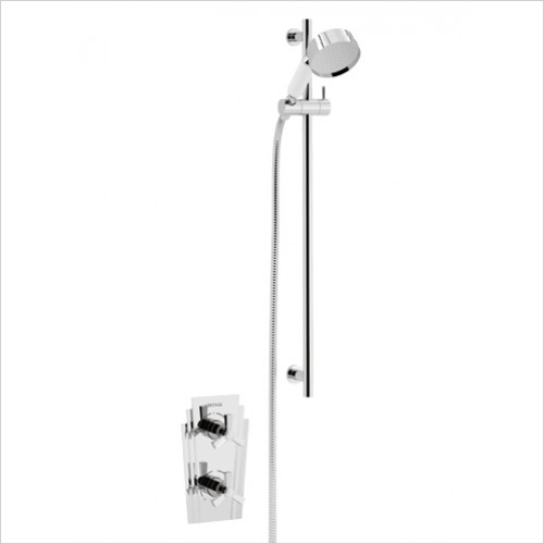 Heritage Showers - Gracechurch Recessed Shower With Deluxe Flexible Riser