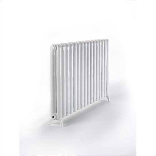 Bisque Radiators - Tetro Aluminium Column Radiator With Feet 639 x 600mm