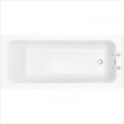 Heritage Bathtubs - Wynwood Single Ended 1700 x 750 Fitted Acrylic Fitted Bath