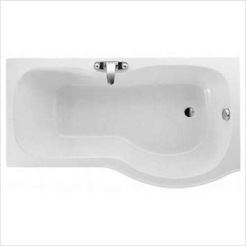 Adamsez Baths - Mini Mezza Shower Bath 1500x850mm RH