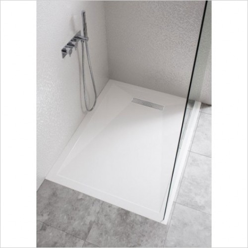 Simpsons Shower Enclosures - STone Resin Tray 800 Linear Waste