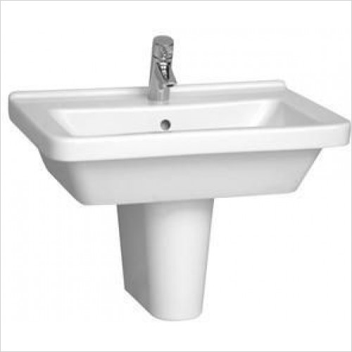 Vitra Basins - S50 Square Basin And Pedestal 65 x 49cm 1TH