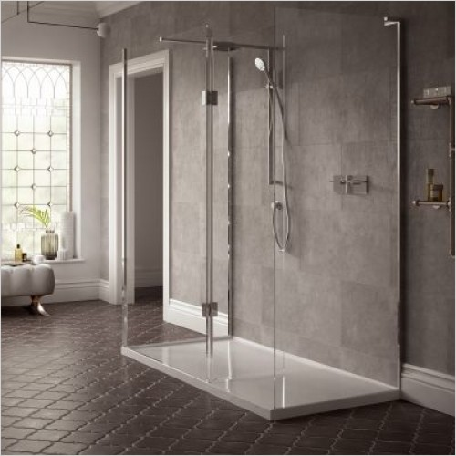 Matki Shower Enclosures - Boutique 3-Sided, Raised Tray & Mixer 1500 x 900mm RH