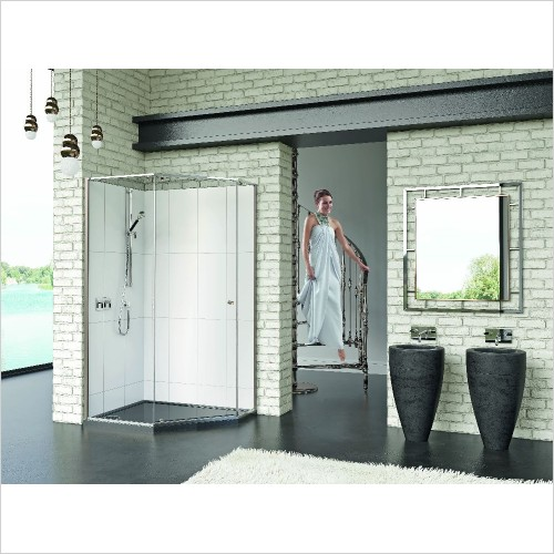 Matki Shower Enclosures - Matki One Quintesse 1200 x 900mm RH, Ring Handle