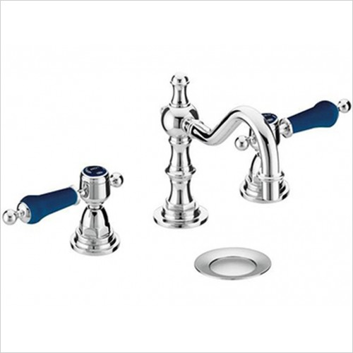 Heritage Taps - Glastonbury 3 Taphole Swivel Spout Basin Mixer