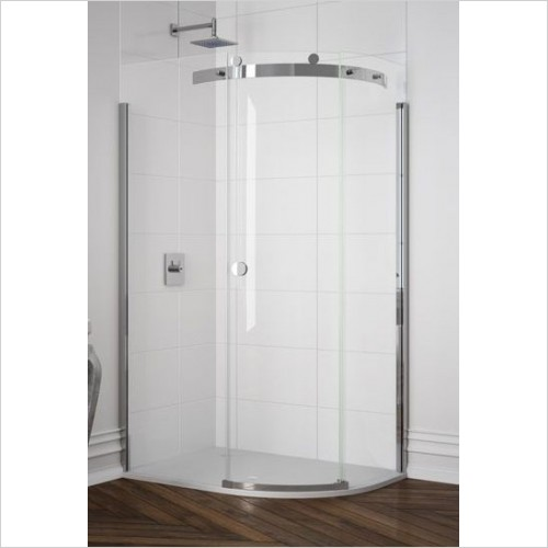 Merlyn Shower Enclosures - 10 Series 1 Door Offset Quad 1000 x 800mm RH Incl. Tray