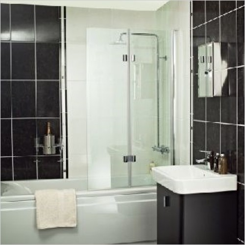 Roman Shower Enclosures - Embrace Dual Folding Bath Screen