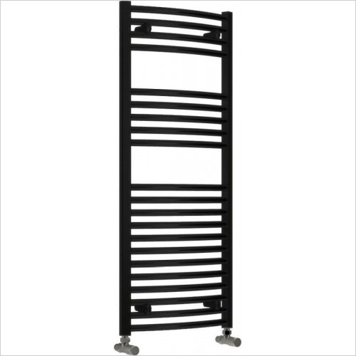 Reina Radiators - Diva Curved Towel Rail 800 x 500mm - Dual Fuel