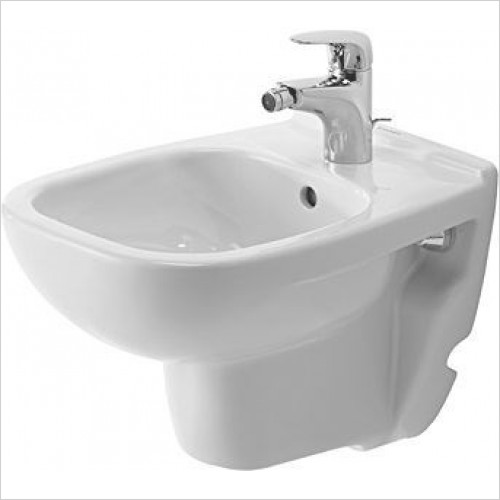 Duravit Bidets - D-Code Bidet Wall-Mounted 480mm Compact 1TH
