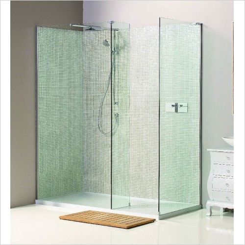 Matki Shower Enclosures - Boutique Corner, Side & Raised Tray 1500 x 900mm LH