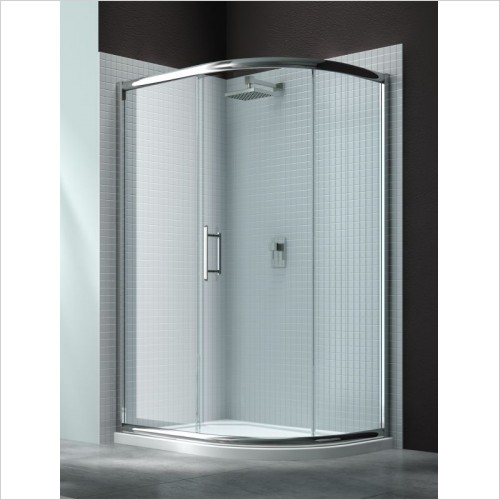 Merlyn Shower Enclosures - 6 Series 1 Door Offset Quad 900 x 760mm Incl. Tray RH