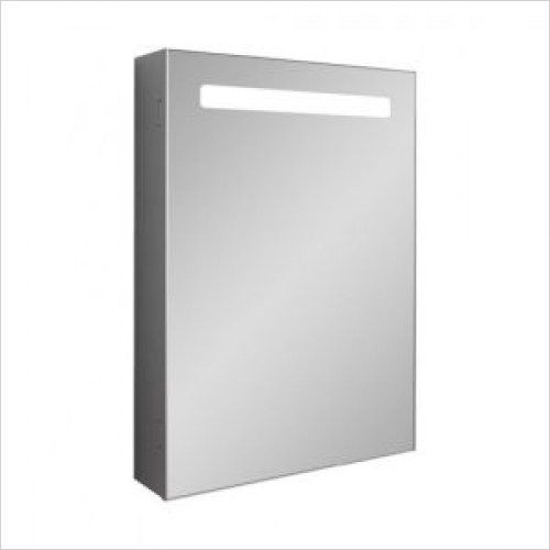 Crosswater Bathroom Furniture - Allure 500mm Mirrored Cabinet LED