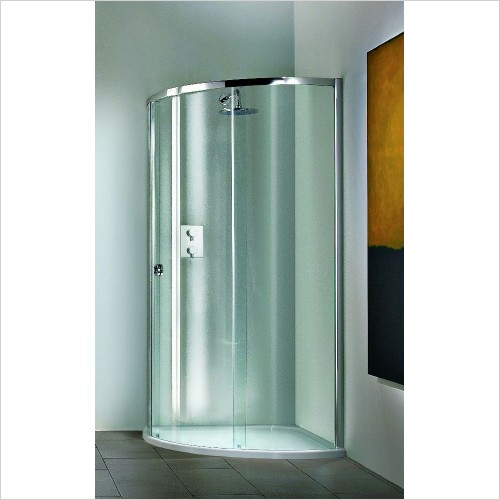 Matki Shower Enclosures - Radiance Curved Corner Surround & Tray 825mm Right Hand