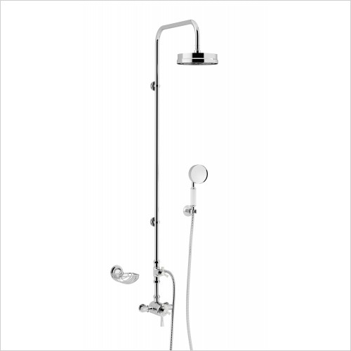 Heritage Showers - Gracechurch Exposed Shower With Mother Of Pearl Handles