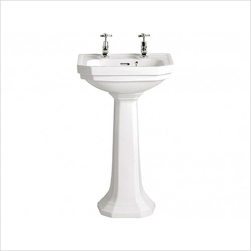Heritage Basins - Granley Deco Cloakroom Basin 2TH
