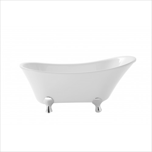 Heritage Bathtubs - Grantham Acrylic Slipper Bath Freestanding 1550 x 690mm