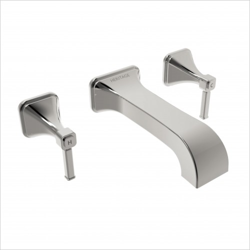 Heritage Taps - Somersby Wall Mounted Bath Filler - 3 Tap Hole