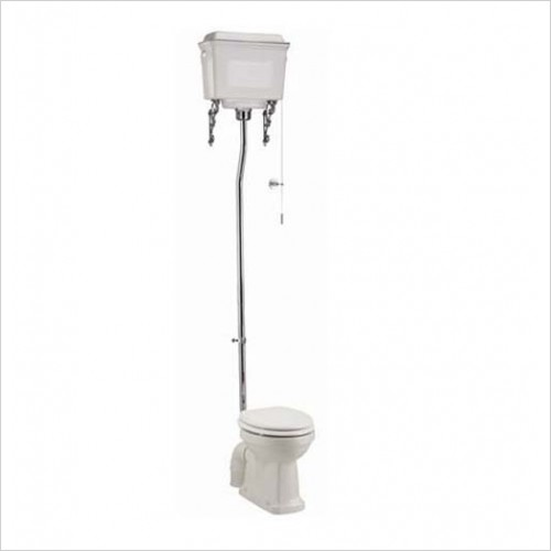 Burlington Optional Accessories - Aluminium High Level WC Suite With Fittings
